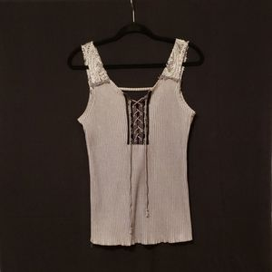 BKE Top Lace-Up Front